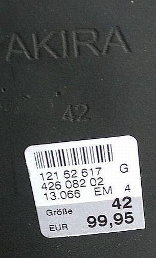 NEU Akira Stiefeletten NP Leder Gr.42 schwarz Damen NP Stiefeletten 99,95 b6d0f6