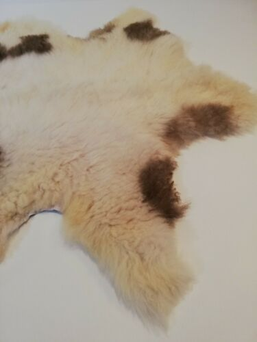 XLarge Genuine Serbian spotted Sheepskin Rug-lamb skin hide Long Super Soft Fur