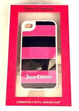 Juicy Couture Rugby Stripe Pink Cerise iPhone 4/4S Case Silicone Cover