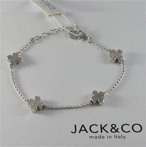 BRACCIALE-IN-ARGENTO-925-JACK-amp-CO-CON-QUADRIFOGLI-E-ZIRCONIA-CUBICA-JCB0742