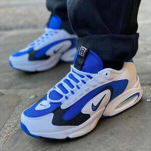 Nike-Air-Max-Triax-96-034-Bianco-Blu-034-Uomo-Scarpe-da-ginnastica-LIMITED-STOCK-Tutte-le-Taglie