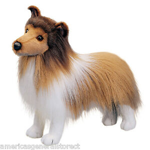 Dixie Douglas Plush 14 Long Sheltie Stuffed Animal Dog Cuddle Toy