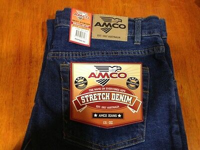 AMCO STRETCH JEANS BLACK and BLUE AVAILABLE BRAND NEW TAGS 32/32 82cm x 82cm