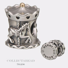 Authentic Pandora Sterling Silver & 14K Gold Carousel Bead 791236