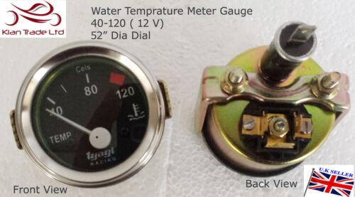 52 mm Oldtimer Universal Wasseruhr Temperatur Motor Zeiger 40-120 Sensor
