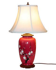 Old-Antique-Awaji-Pottery-Japanese-Prunus-Cherry-Blossom-Vase-Lamp