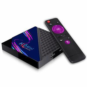 H96 MINI V8 Android 10.0 Smart TV Box Quad Core 4K 2.4G 1/8 STB X96 MXQ