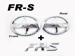 Front-Rear-FRS-Trunk-Badge-Emblem-Logo-chrome-For-Scion-FRS-FR-S-ZN6