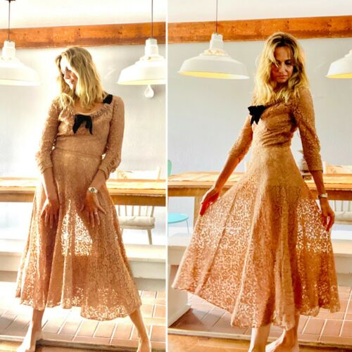 30s Evening Dress - 30s Dress - 30s Lace Dress - … - image 1