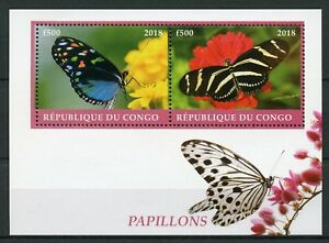 Congo-2018-MNH-Butterflies-2v-M-S-Papillons-Butterfly-Insects-Stamps
