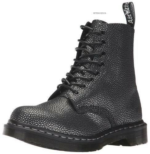 Dr Martens Pascal Metallic Stiefel 8 Eye Pebble Metallic Pascal Leder Damens US 5 EU 36 NEW 198 f20a0a