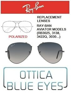 Lenti-di-Ricambio-RAYBAN-AVIATOR-MODELS-Replacement-Lenses-Ray-Ban-RB3025-78-POL