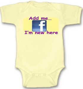 Facebook-Add-Me-Baby-Bodysuit-Creeper-New-Adorable-Gift-Short-Sleeve