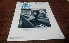 The Love In Your Eyes by Eddie Money piano vocal guitar sheet music NEW