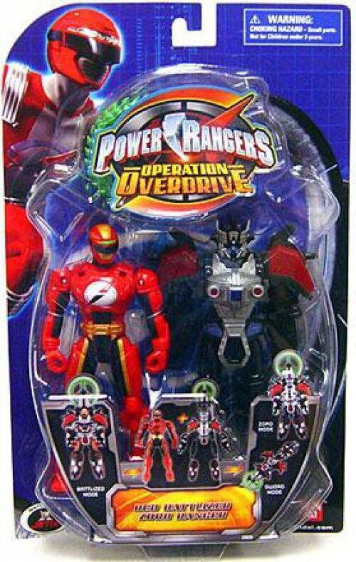 Power Rangers Operation Overdrive Red Battlized Zord Ranger Action Figure
