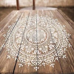 3DIY 0*30cm T Mandala pochoirs de peinture sur bois, tissu art Scrapbook