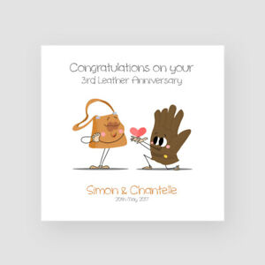 Third Wedding Anniversary.Details About Personalised Handmade 3rd Leather Wedding Anniversary Card Third Funny