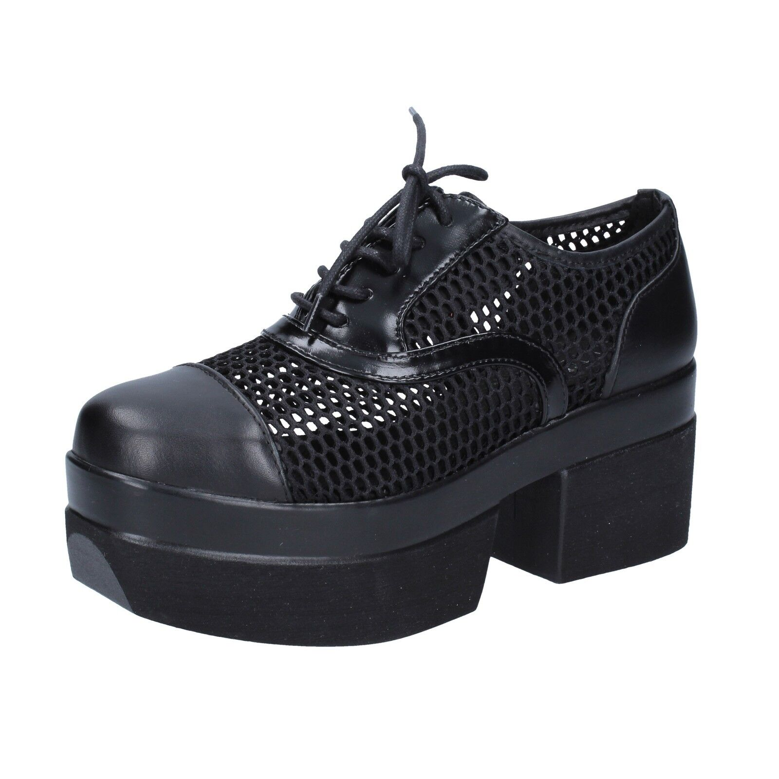 donna scarpe Cult 37 UE Elegant nero  Textile Leather bt549 -37  vendita scontata