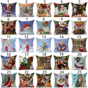 Christmas-Pillow-Case-Cotton-Linen-Sofa-Throw-Cushion-Cover-Home-Decor-Xmas-Gift
