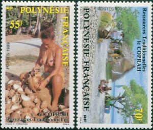 French-Polynesia-1989-Sc-505-506-SG555-556-Copra-Production-set-MNH