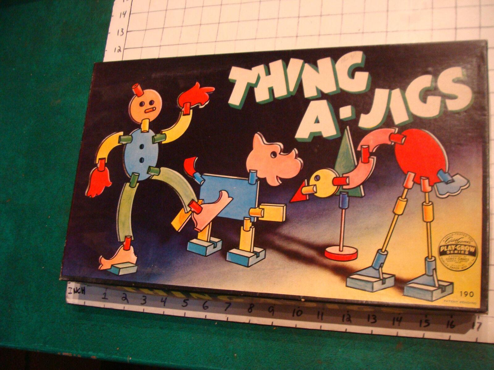 Cosa a-Jig sin usar juguete del juego crece Serie, Corey Juegos, 1943