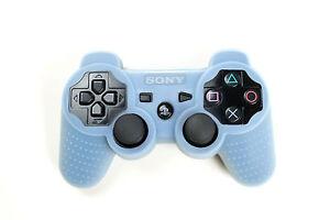 Playstation-3-Silikon-Schutzhuelle-Controller-Huelle-fuer-PS3-Neu-Light-Blau