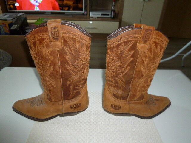 Vintage West River Western Cowboy Stiefel Schuhe Gr. 37