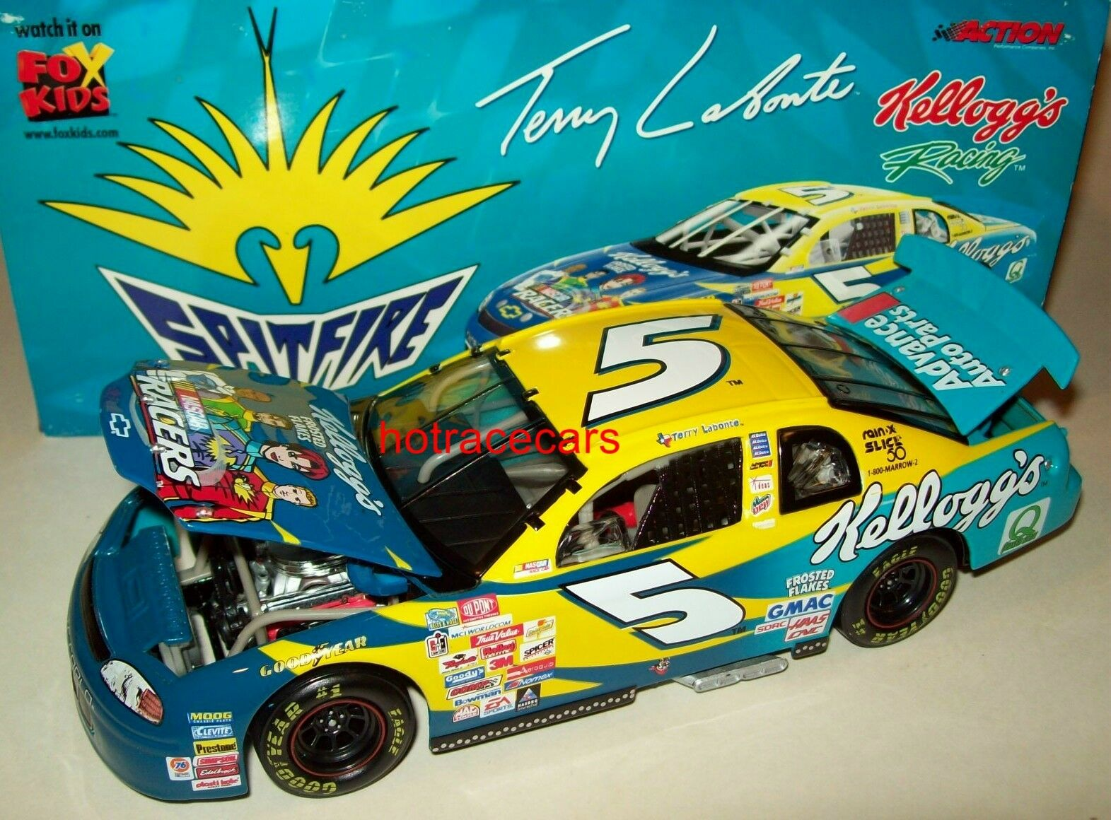 TERRY LABONTE 1999 NASCAR RACERS SPITFIRE KELLOGG'S CHEVY HOMESTEAD 1 24