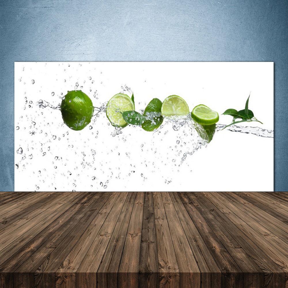Crédence de cuisine en verre Panneau 140x70 Cuisine Citron Vert Lime Eau