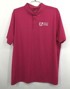 Nike-Mens-Pink-Standard-Fit-Short-Sleeve-Walmart-Arkansas-Championship-Polo-2XL