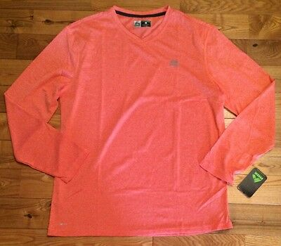 NWT Womens TANGERINE Lime Green Stretchy Long Sleeve Performance Top Size Small