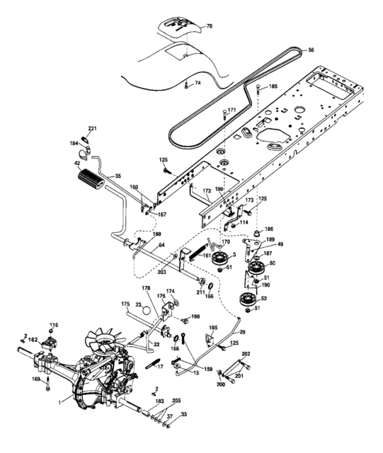 Craftsman 197256 Lawn Tractor Brake