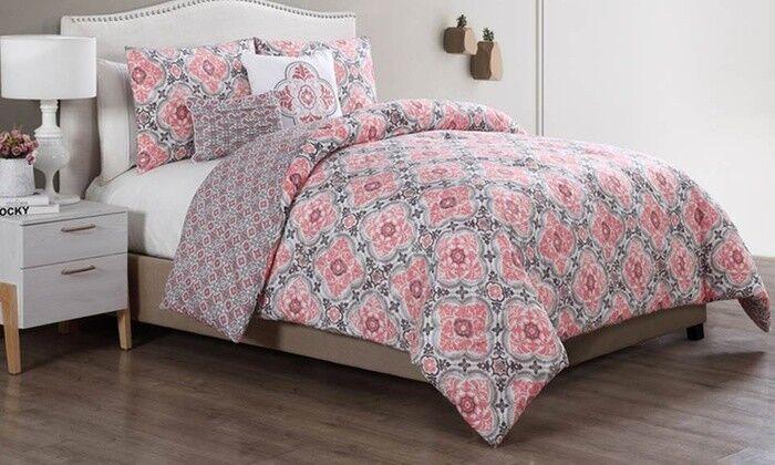 New Soft-Feel Microfiber Reversible Comforter Set (5-Piece) King (Wrinkle Free)