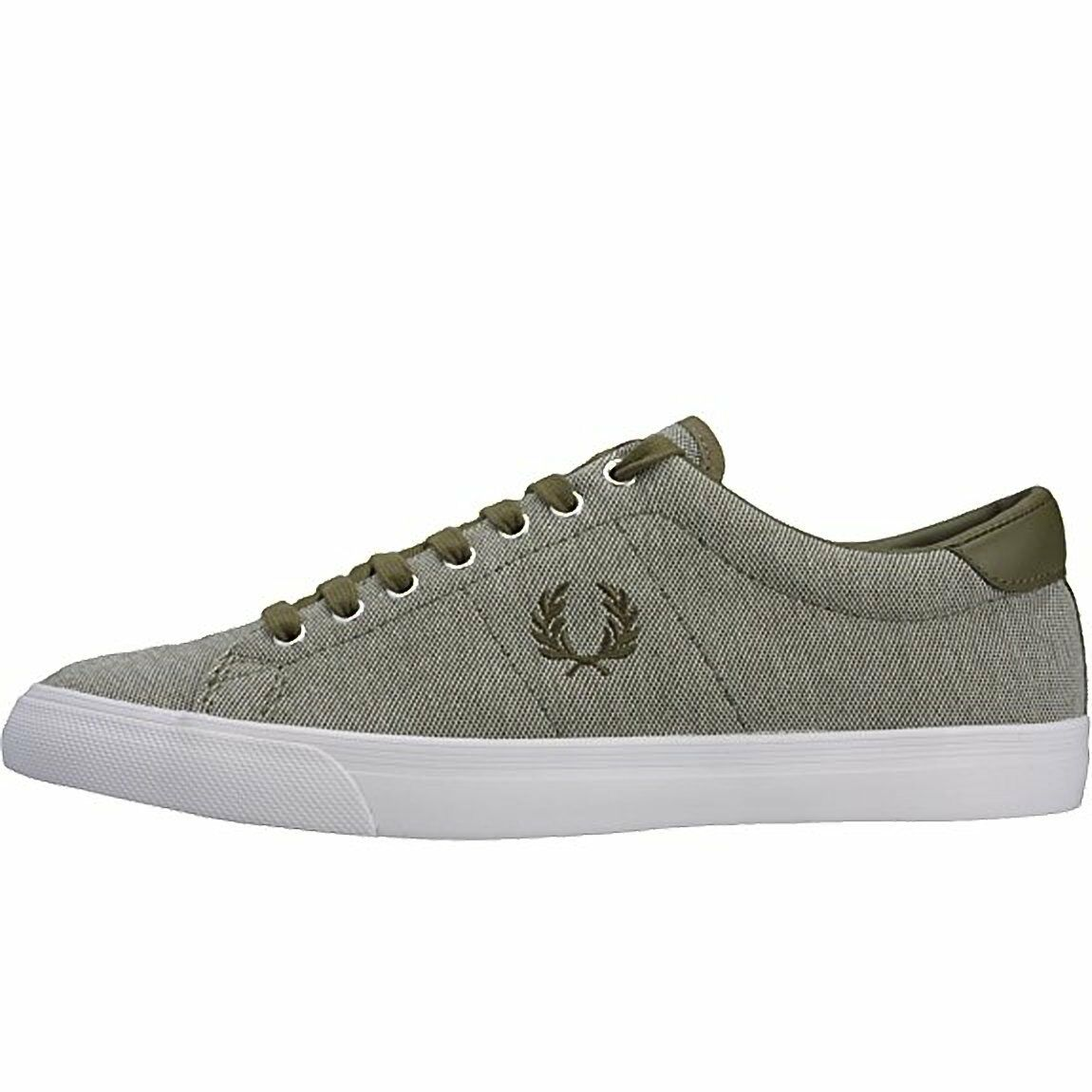 Frot PERRY mens trainers new Turnschuhe canvas lace up schuhe  6.5  8  9.5 10 UK