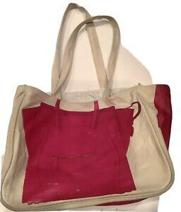 Thursday-Friday-simulated-Celine-Phantom-Bag-Beach-bag-Tote-Pink-Beige