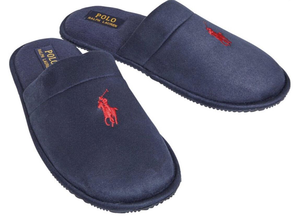 Ralph Lauren Summit ll Scuff Slippers Navy Blue Size UK 11 new