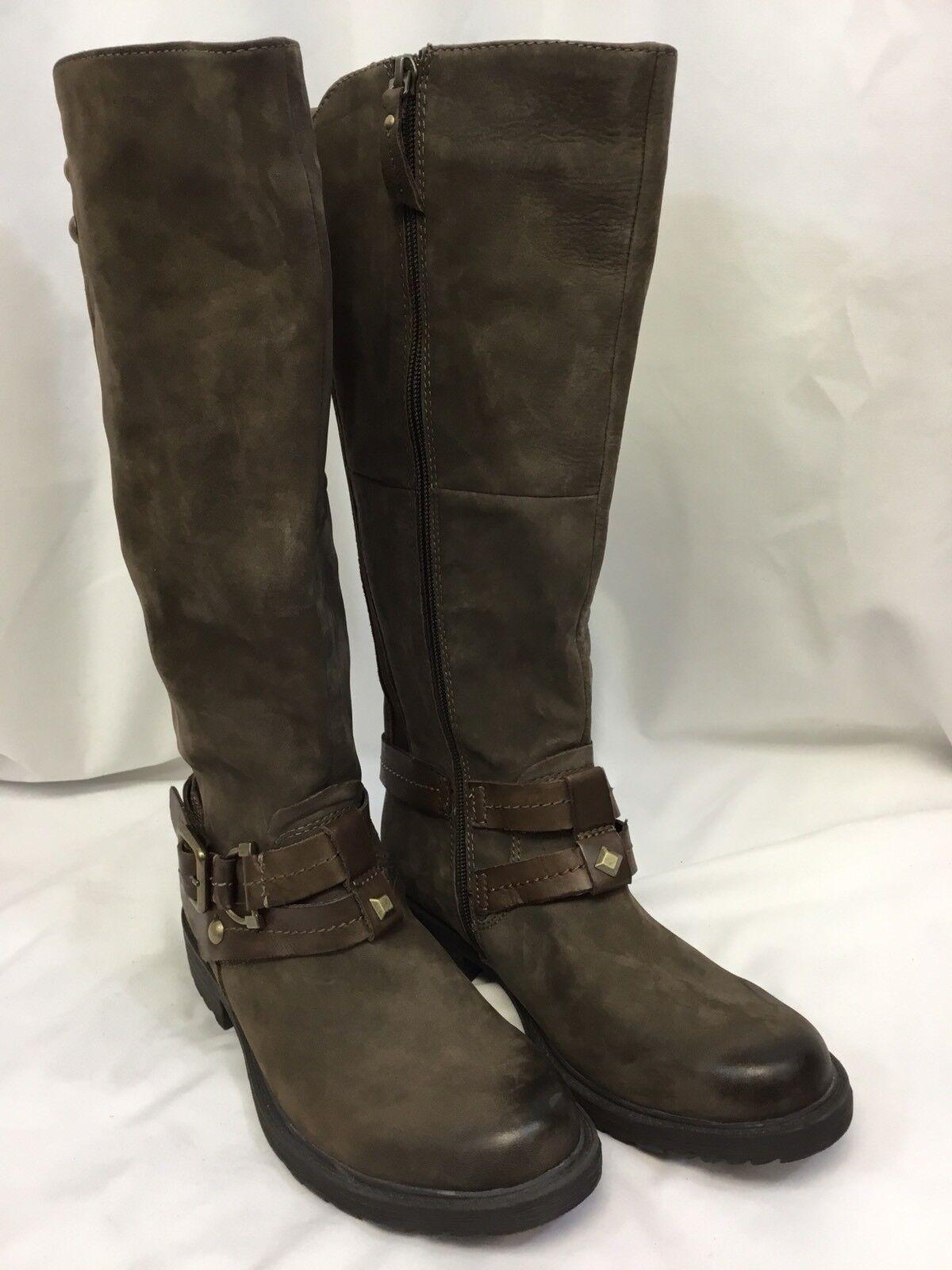 Earth Women's Sierra Tall Boots Brown SIZE 7.5B NWOB NWOB NWOB 3e33aa