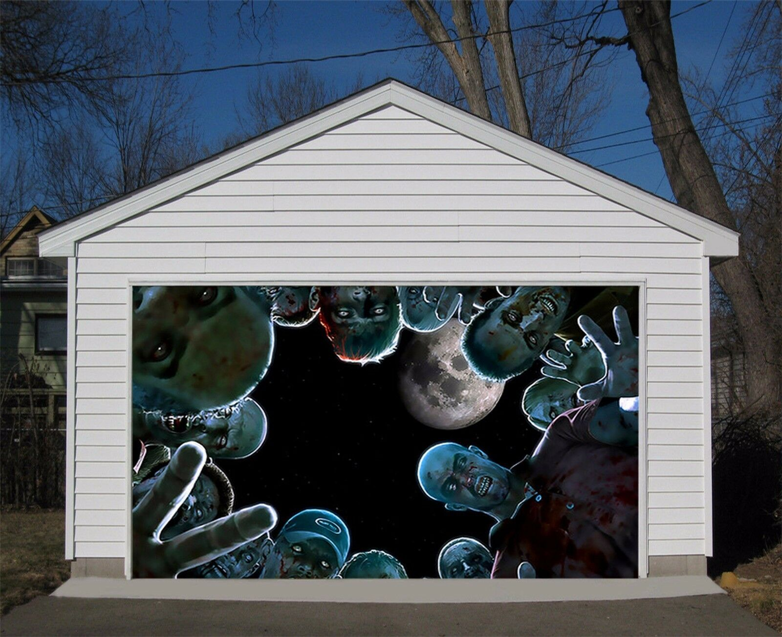 3D Zombies 54 Garage Door Murals Wall Print Decal Wall AJ WALLPAPER AU Lemon