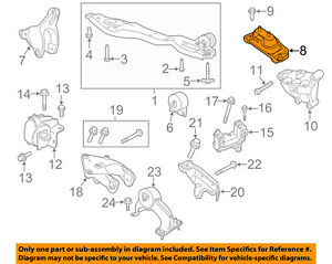 details about vw volkswagen oem 11 12 routan engine motor mount torque strut 7b0199555 VW Wiring Diagram
