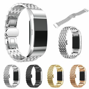 Metal-Stainless-Steel-Strap-Wrist-Watch-Band-Bracelet-For-Fitbit-Charge-2-HR
