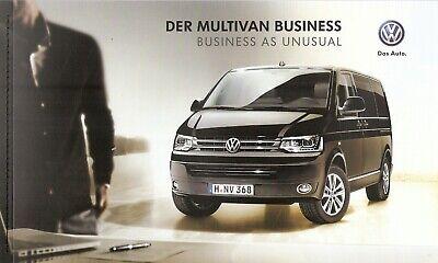 Prospekt / Brochure Vw Multivan Business 11/2013