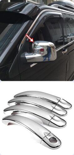 VW T5 CARAVELLE 2003-2009 Chrome Mirror Cover/&Door Handle Cover 4door S.Steel