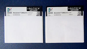 100% Vrai Pc / Dos + Windows - Pack / Lot 2 Disks - Mouseware Utilities 6.2 - Logitech