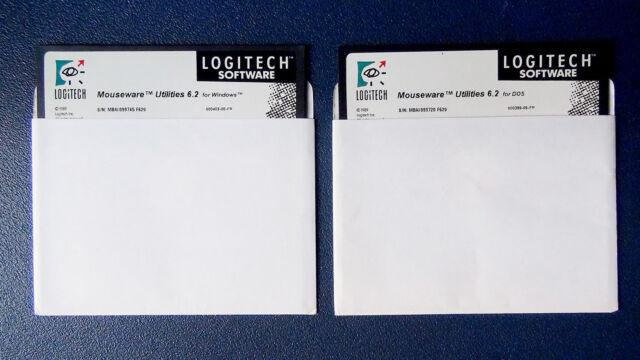 PC / DOS + Windows - Pack / Lot 2 Disks - Mouseware Utilities 6.2 - LOGITECH