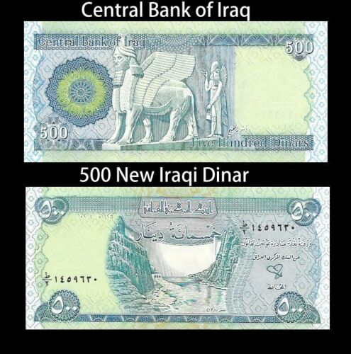 2 Of 12 5 000 New Iraqi Dinar 10 X 500 Notes Unc Whole Money Iraq Currency