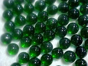 "25  CHAMPION 9/16""  (+or -) GREEN TRANSPARENT MARBLES $2.99 !!"