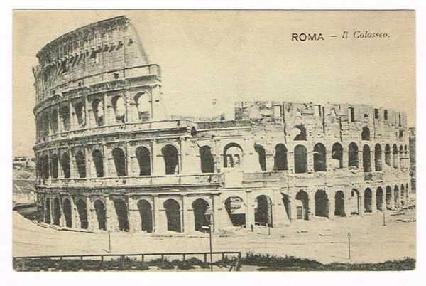 Vintage Postcard Italy 1900 ROMA ROME COLOSSEO COLISEUM ...