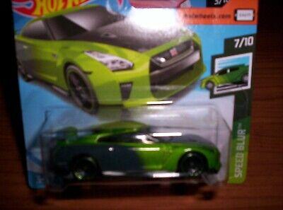 Hot Wheels 2019 #061//250 2017 NISSAN GT-R R35 GUACZILLA green @C