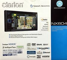 """NEW Clarion NX604 2-Din DVD Receiver w/ Navigation, Bluetooth and 6.2"""" LCD"""