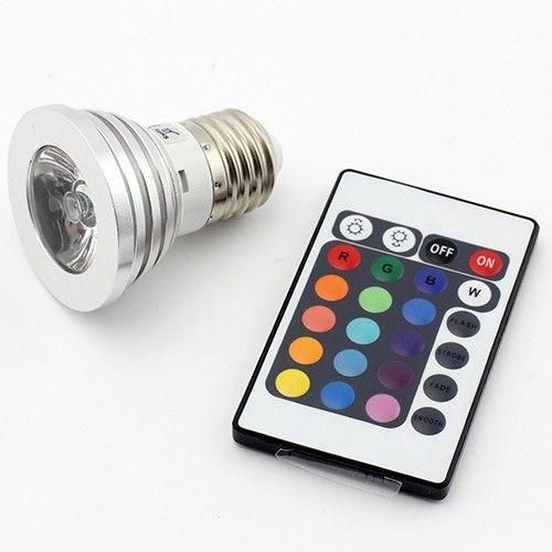 9 E27 3W RGB LED 16 color Changing Light Bulb + IR Remote Control US Seller